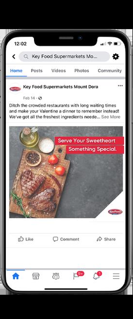 social media management and design concierge creative key food supermarkets florida